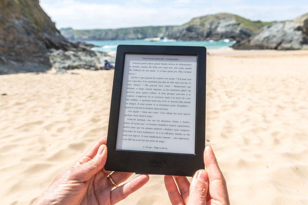 beach, reading, sea